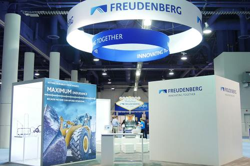 The Booth of Freudenberg Sealing Technologies at the IFPE in Las Vegas